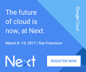 Register for Google Cloud Next 17