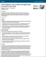 GHow to Retain the Right Kinds of Control in the Cloud