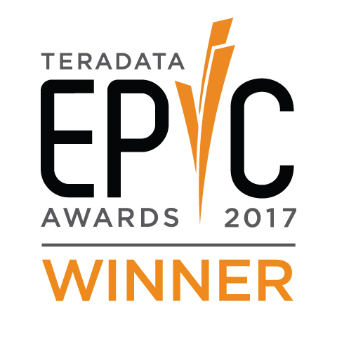 Winner 2017 Teradata EPIC Award for Enterprise Intelligence