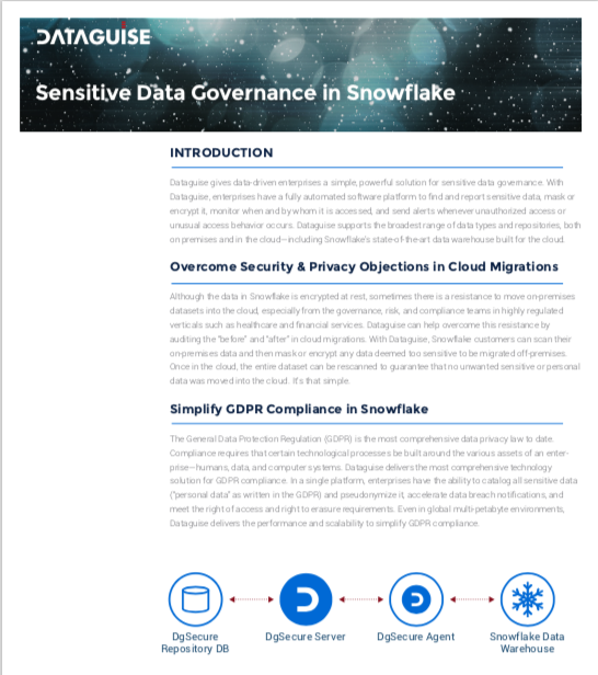 Sensitive Data Governance in Snowflake