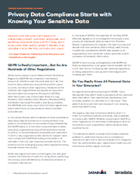 Privacy Data Compliance Starts with Knowing Your Sensitive Data